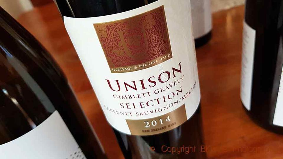 Unison Vineyards Gimblett Gravels Selection Cabernet Sauvignon/Merlot, Hawke's Bay