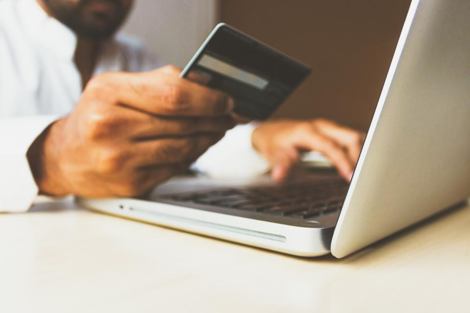Consumer making an online purchase