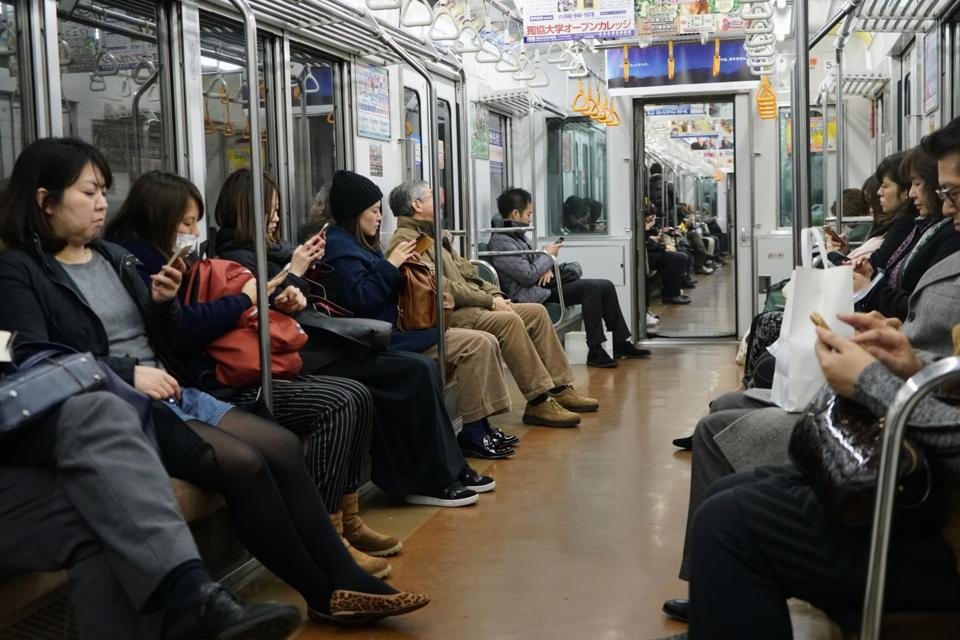 Asian subway car