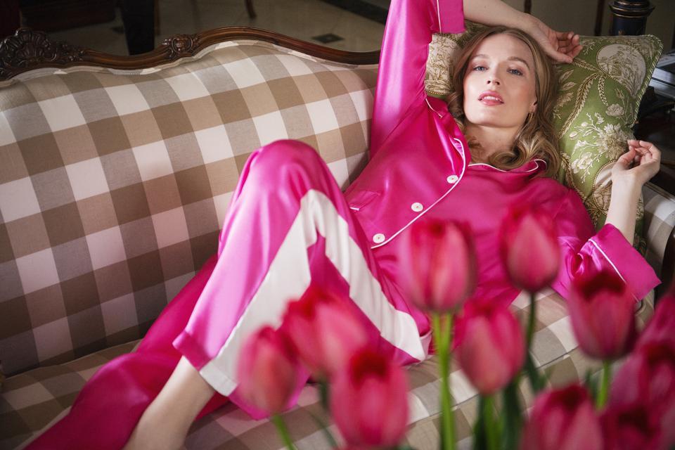 Flora Dancia Jacqueline Silk Pajama Set