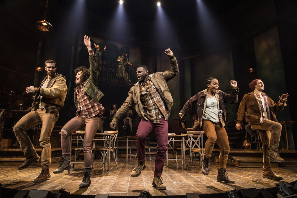 The cast of 'Hadestown' on Broadway, the 2019 Tony Award winner for Best Musical,