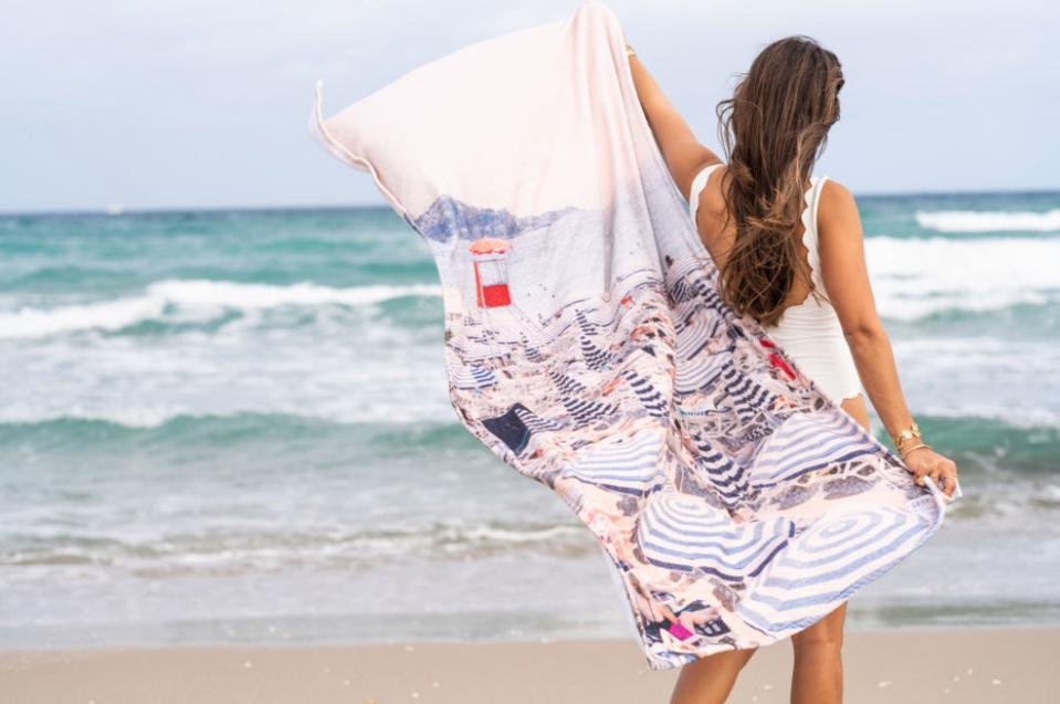 This towel from Gray Malin lets you lie on the beach on the French Riviera - even in your backyard.