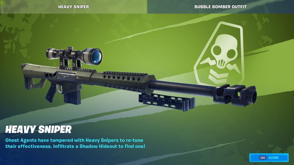 Heavy Sniper Rifle nerf Fortnite
