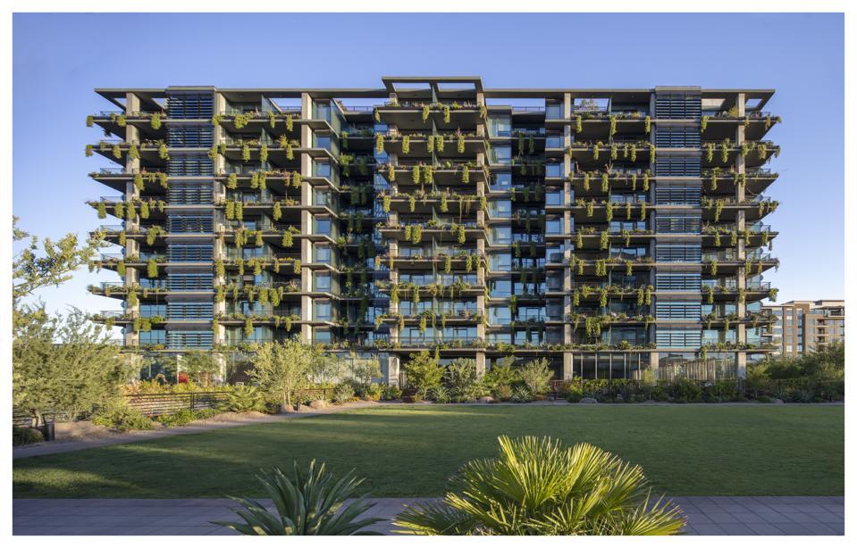 The vertical garden at Optima Kierland Center in Scottsdale, Arizona