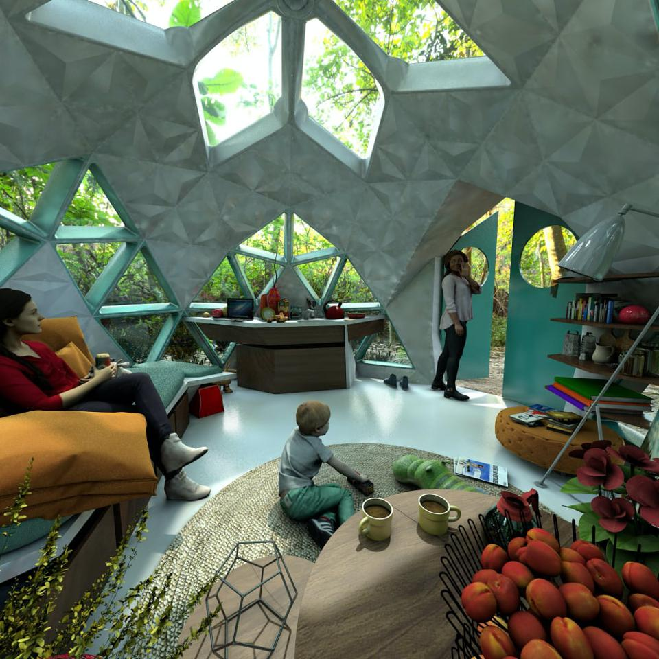 These Carbon-Neutral Bioceramic Geodesic Dome Homes Last 500 Years And Don't Rot, Burn, Or Rust 960x0