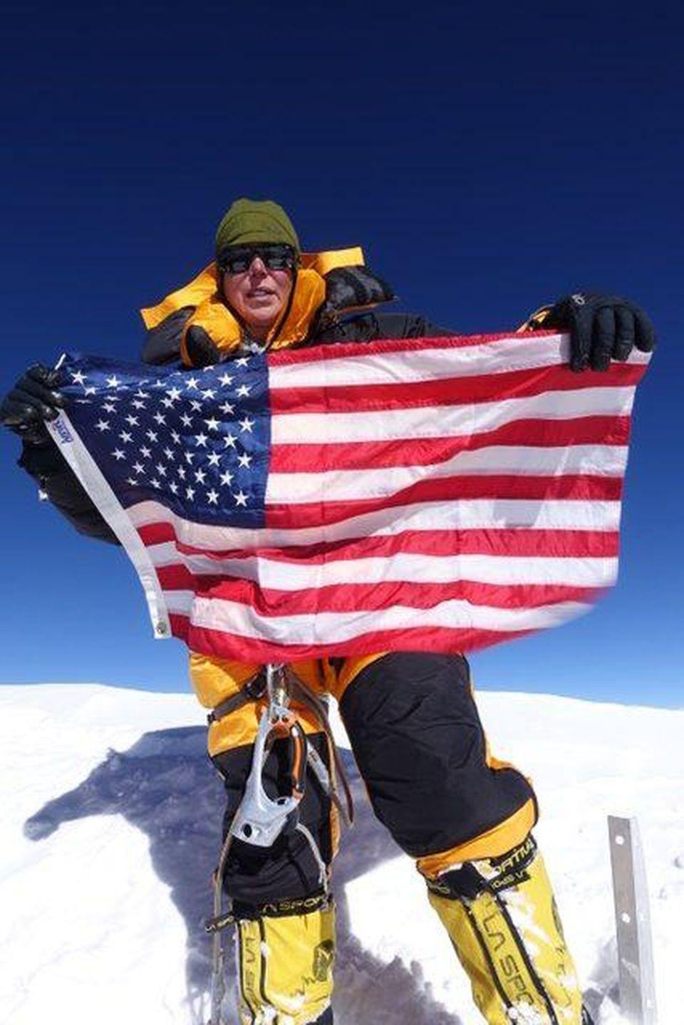 Vanessa O'Brien atop K2 on July 28, 2017.
