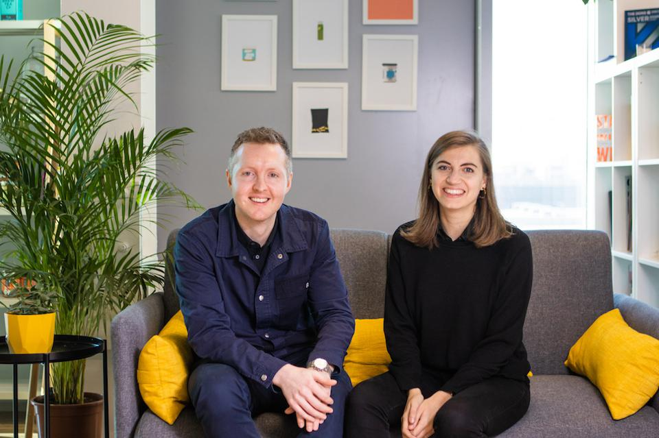 Co-founders of Mighty Small in their office