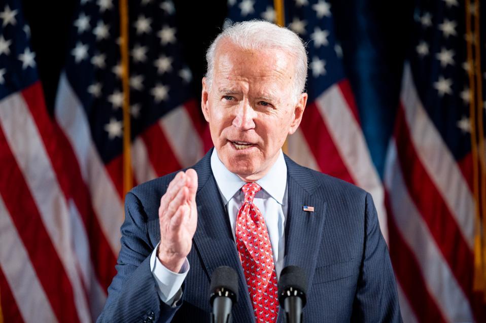 Joe Biden Talks About the Coronavirus in Washington, US