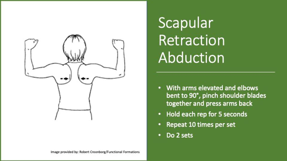 Instructions for a shoulder exercise