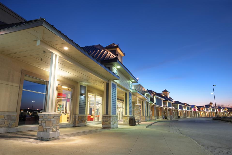 photo of a shopping center