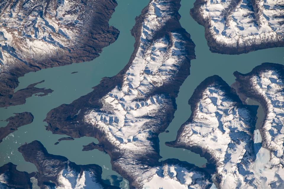 Patagonia as photographed by an astronaut aboard the ISS.