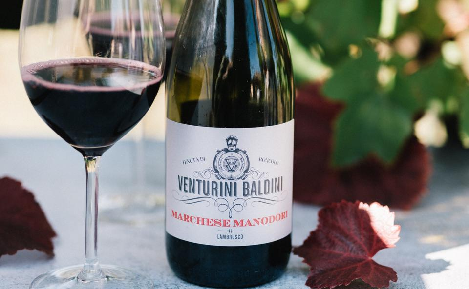 red wine from Italy, sparkling wine