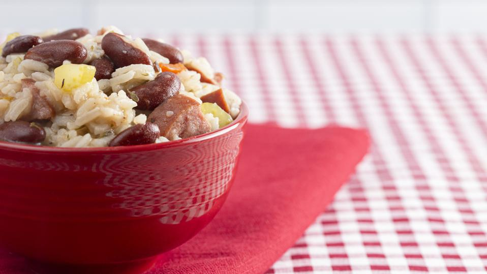 Red Beans and Rice with Sausage and Vegetables