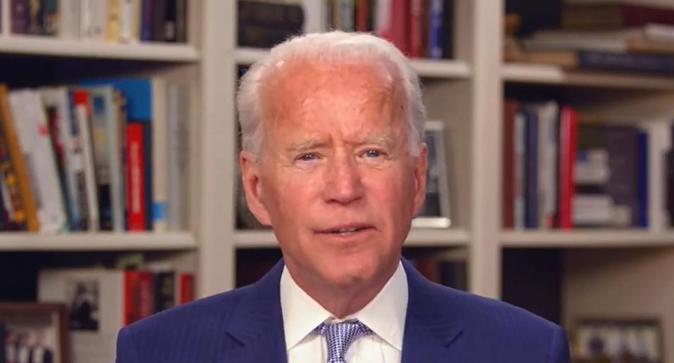 Presidential Candidate Joe Biden Holds Virtual Town Hall To Hear Coronavirus Concerns