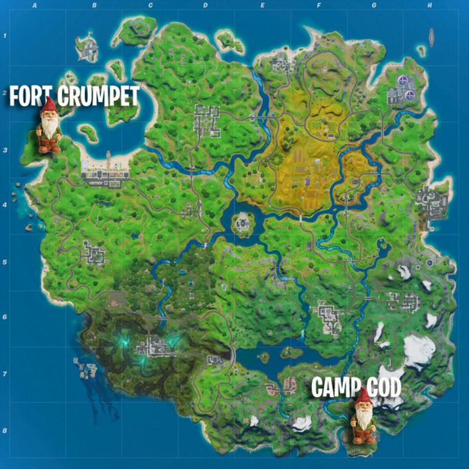 Destroy Gnomes At Fort Crumpet And Camp Cod Map
