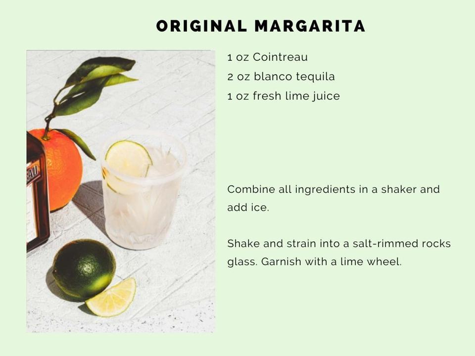 The classic Margarita recipe.