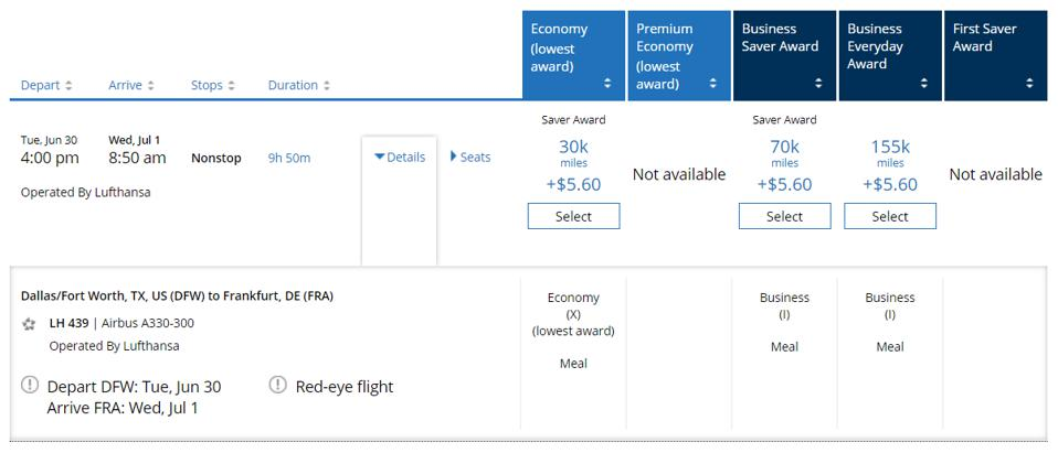 United flights with departures through June 30 are not showing the increase in price