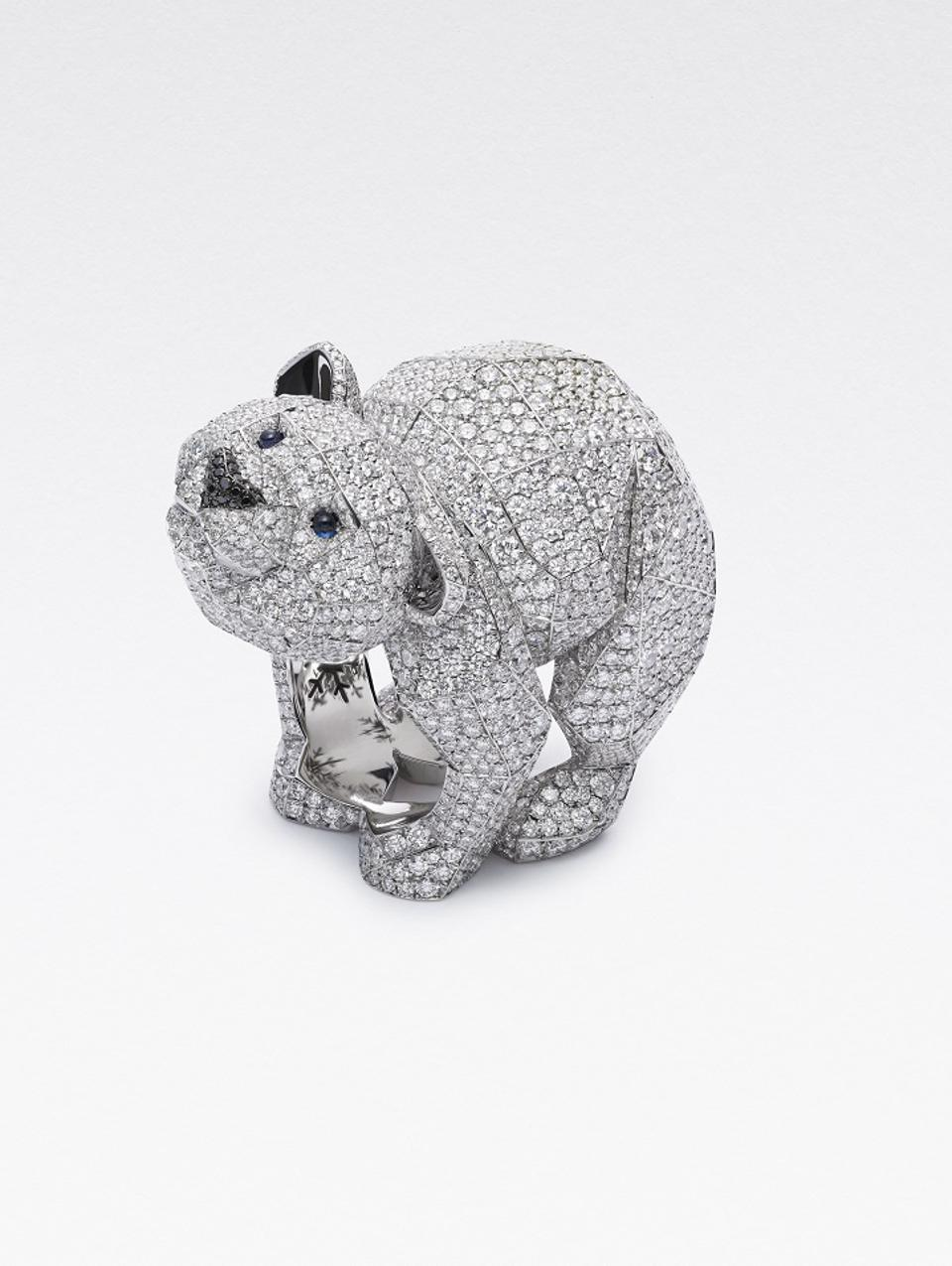 Chopard Polar Bear Ring from the 2020 Red Carpet Collection
