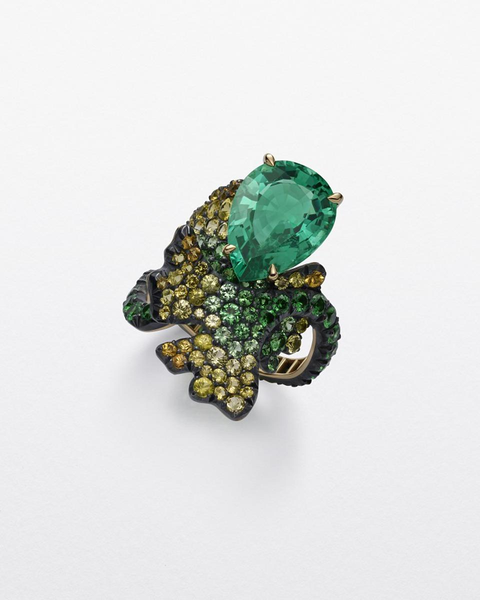Chopard Ginkgo Ring from the 2020 Red Carpet Collection