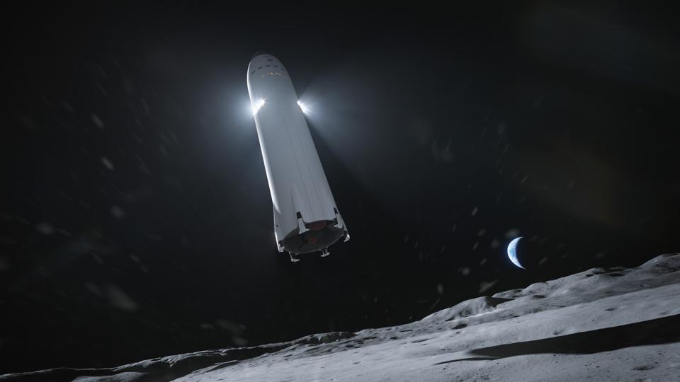 Starship landing on the Moon