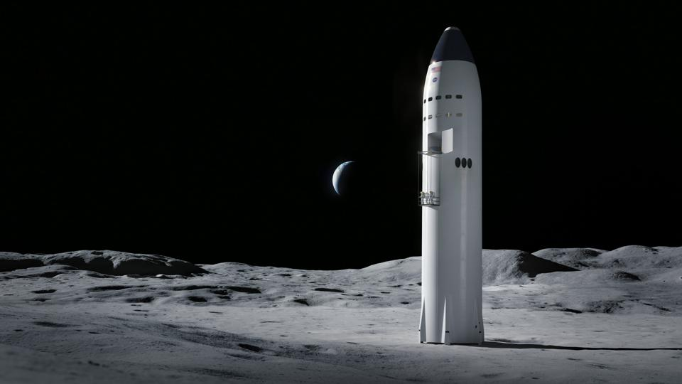Starship landed on the Moon
