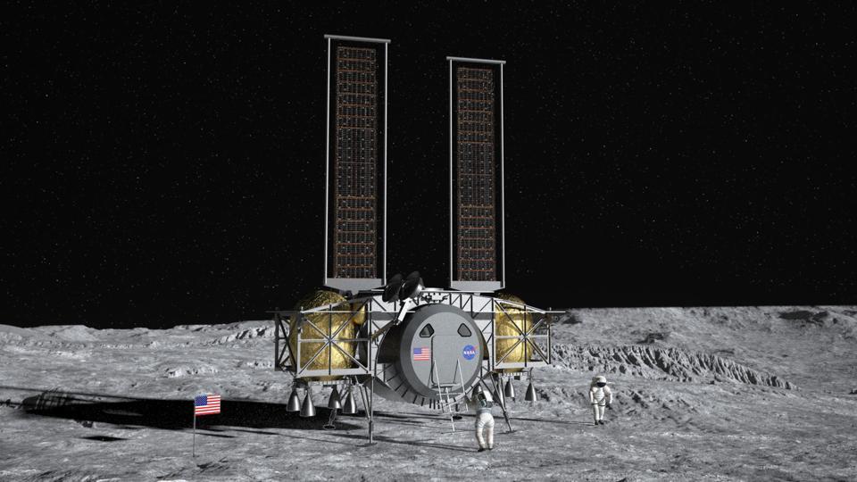 Dynetics lander on the Moon