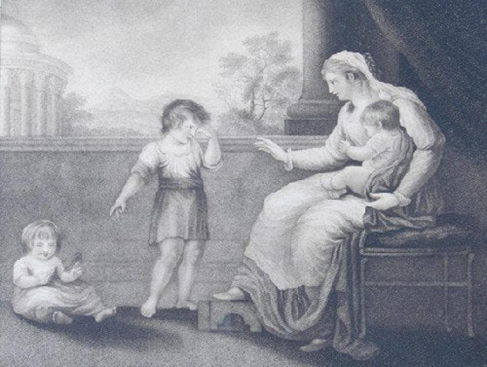 Engraving after Catherine Maria Fanshawe, ″Maternal Tuition″