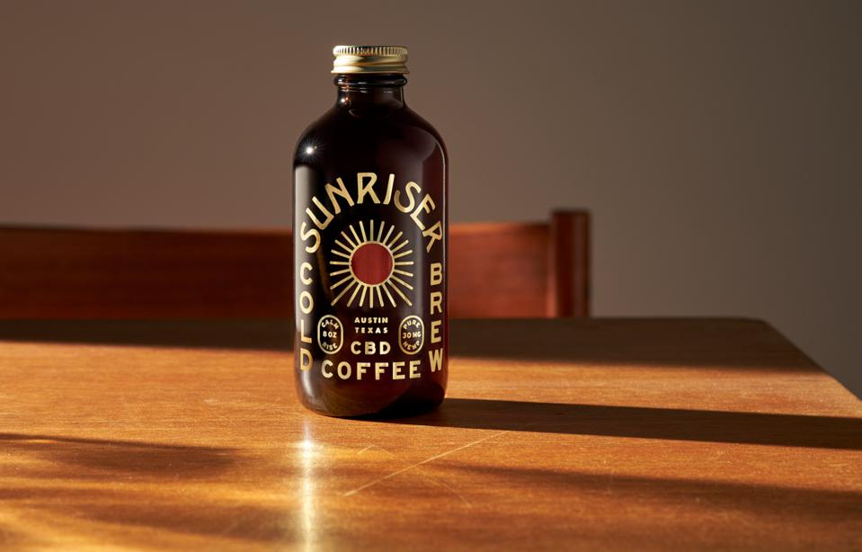 Bottle of Sunriser coffee