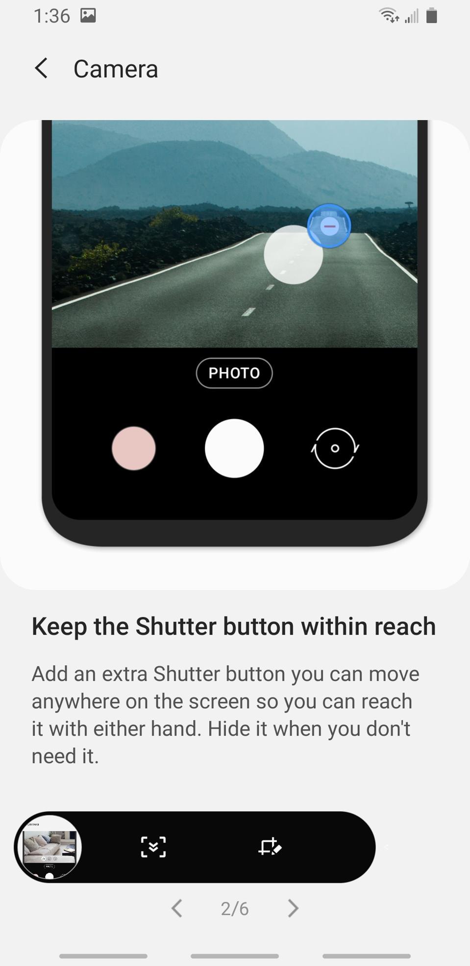 Samsung Android v10 Upgrade Options for Smartphone Camera