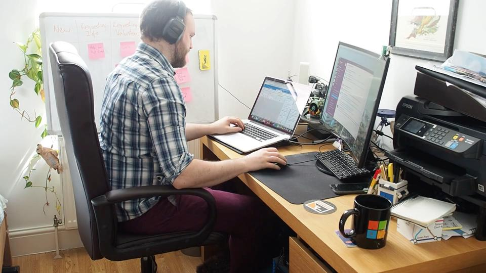 Marc Sloan works on Covid Tech Support and code4covid