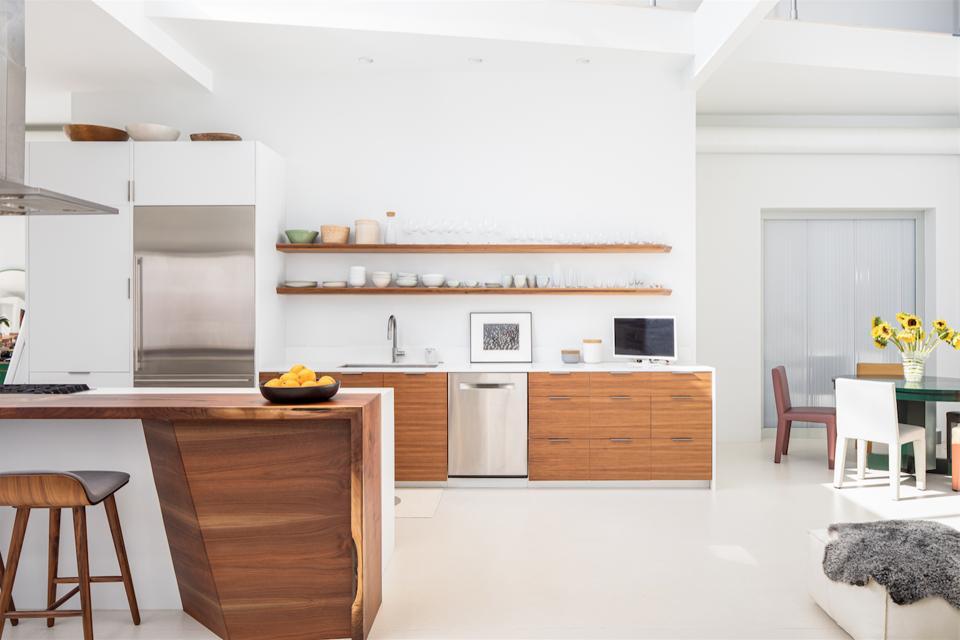 Chef's kitchen, dining area, design