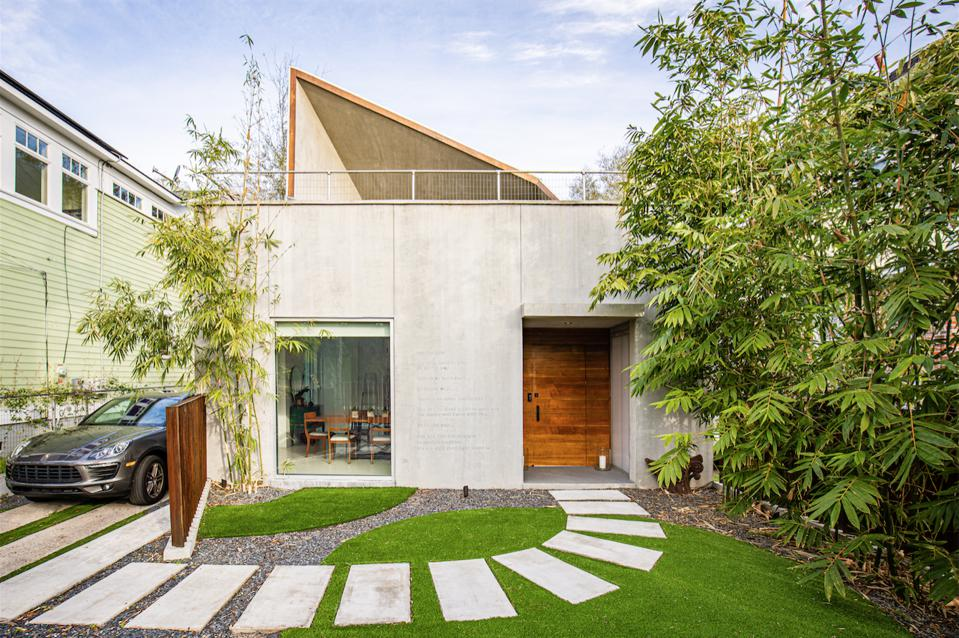 Hampton House is contemporary and angular.