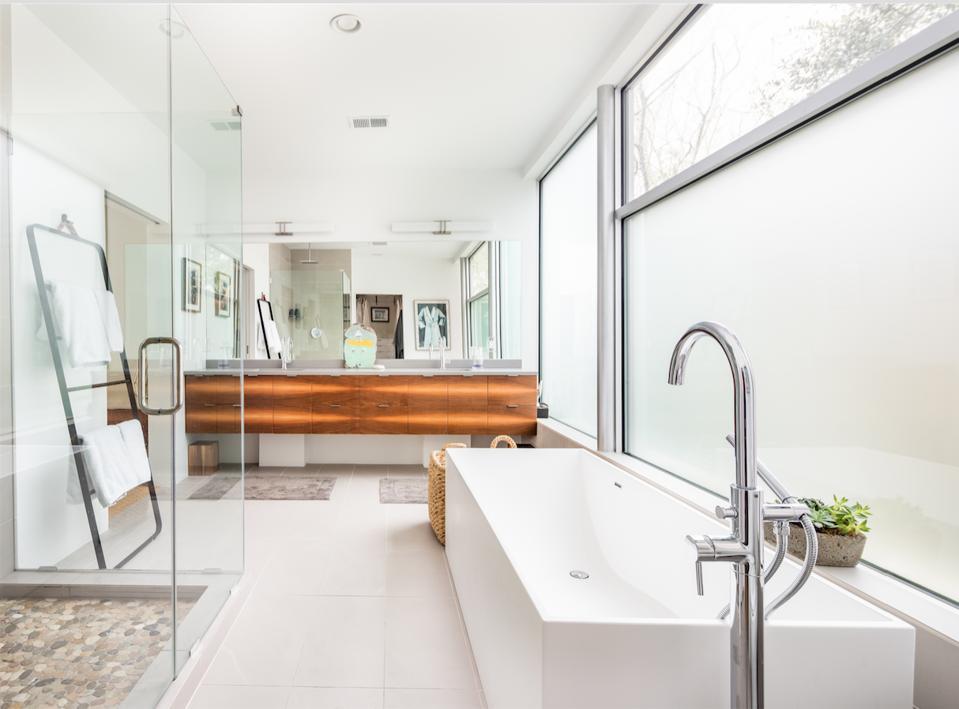 Hampton House includes three bedrooms and three bathrooms