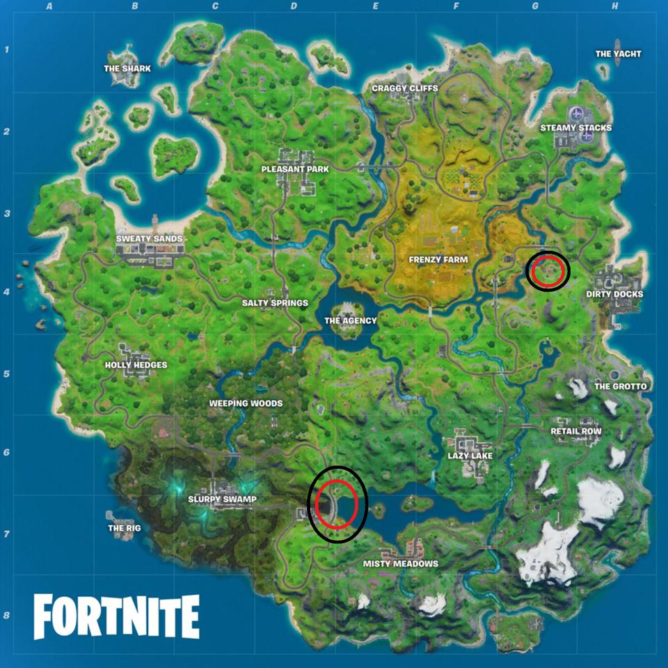 Fortnite Compact Cars And Hydro 16 Location For Overtime Challenges Where To Collect Metal