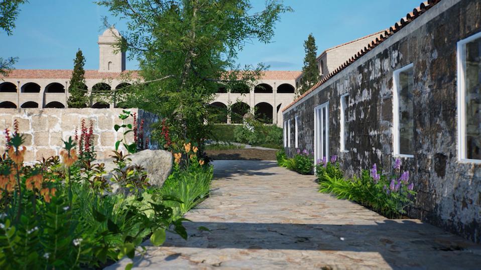 historic buildings now an art gallery in Menorca