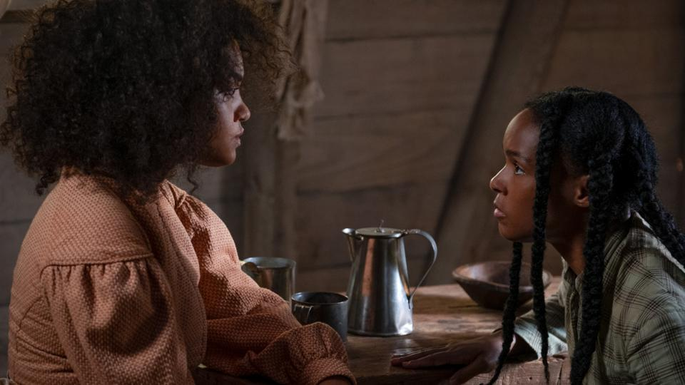 Kiersey Clemons (left) and Janelle Monae (right) in ANTEBELLUM.