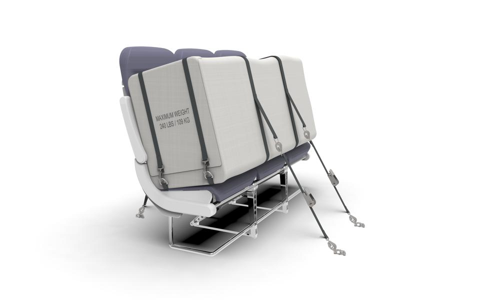 The storage capsules can either replace seats, or sit on top of them.