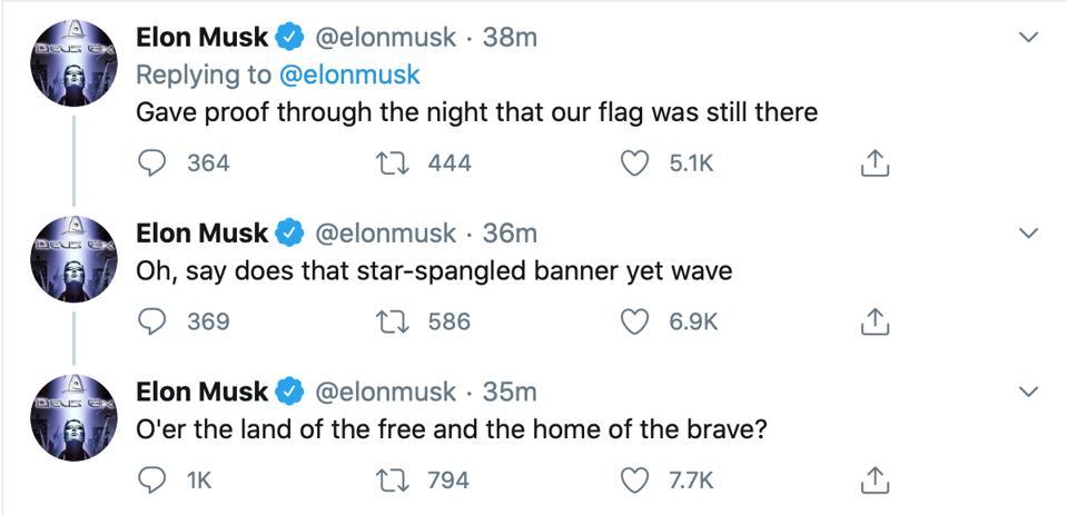 Elon Musk tweetstorm