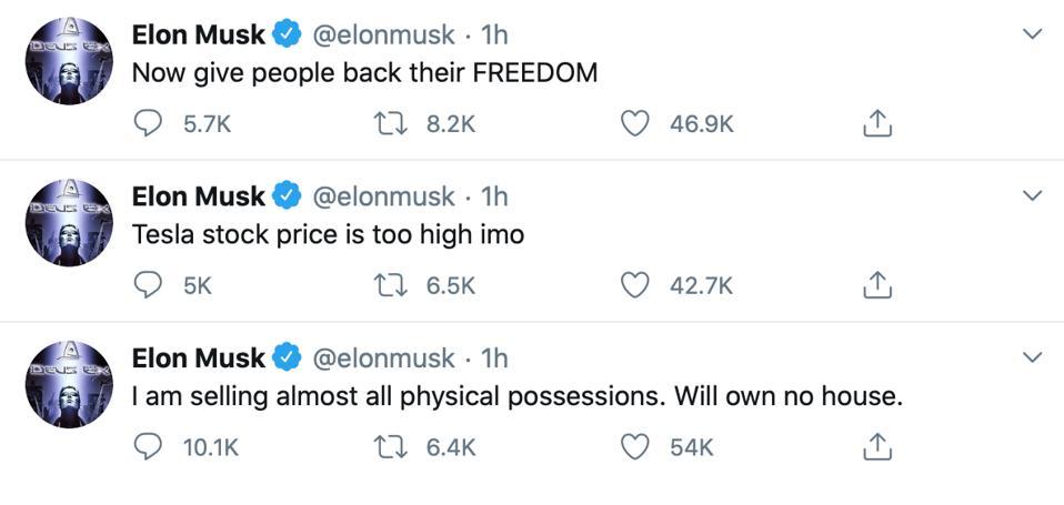 Elon Musk triggers tesla stock price drop with erratic tweetstorm