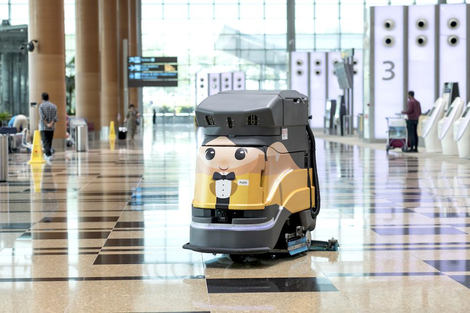 Autonomous Cleaning Machine at Changi Airport, Singapore