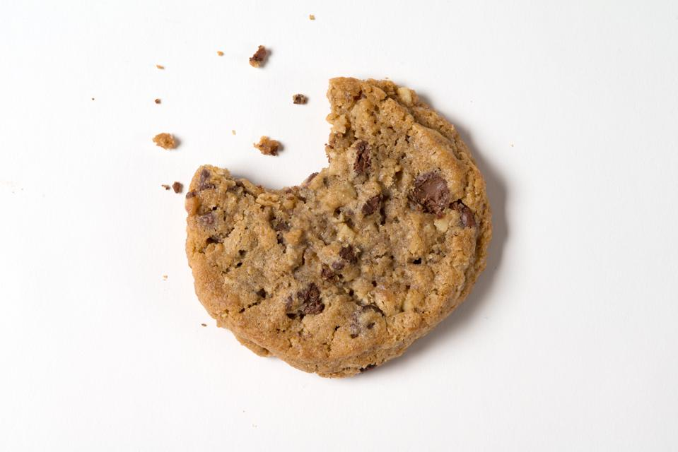 a cookie with a bite taken out of it