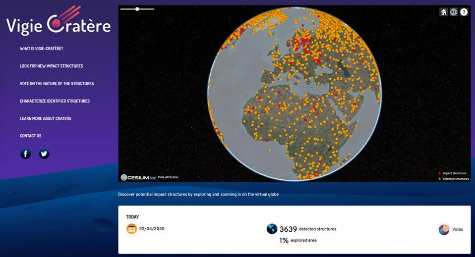 Vigie-Cratère participants have already detected more than 3,600 potential structures on the vigie-cratere.org platform (credit: Vigie-Ciel).