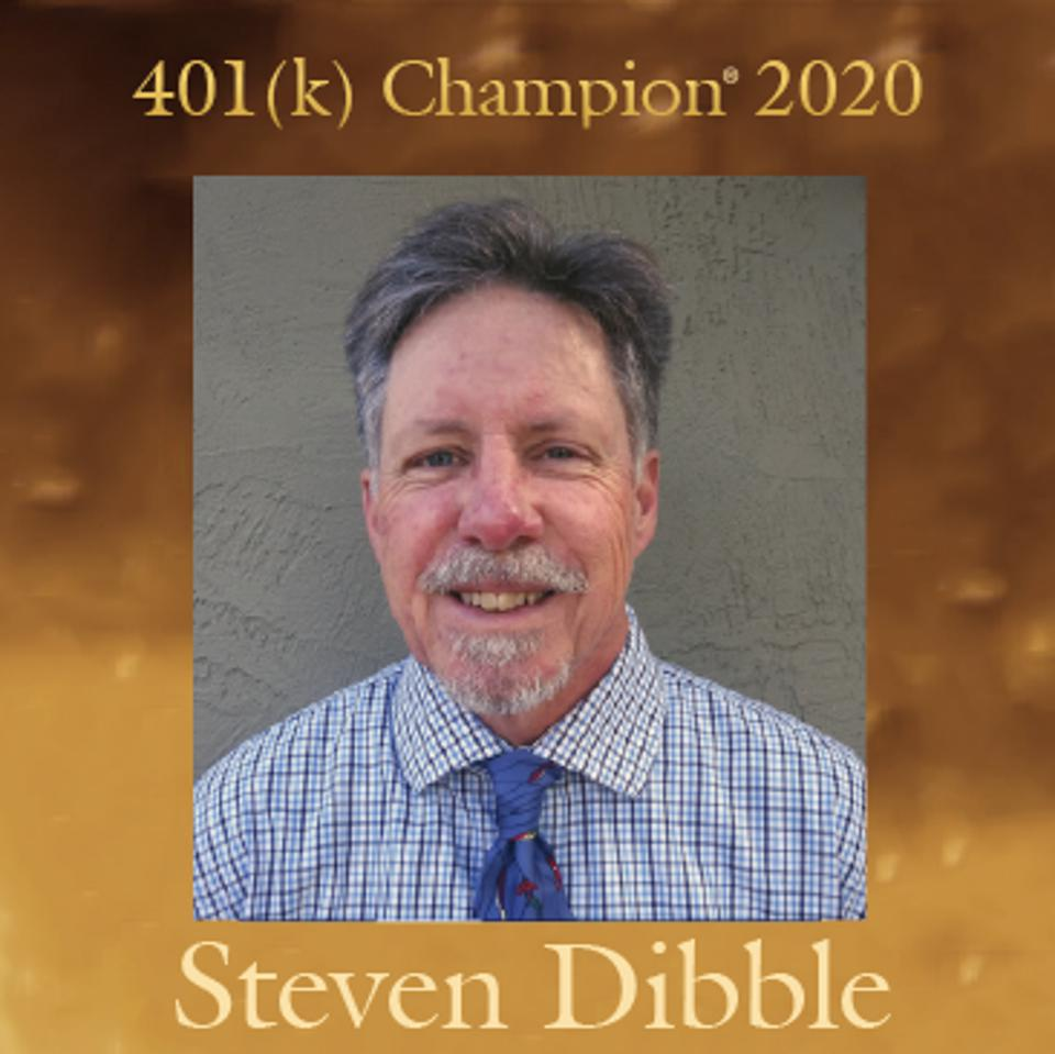 Steven Dibble is one of three 401(k) Champions® for 2020