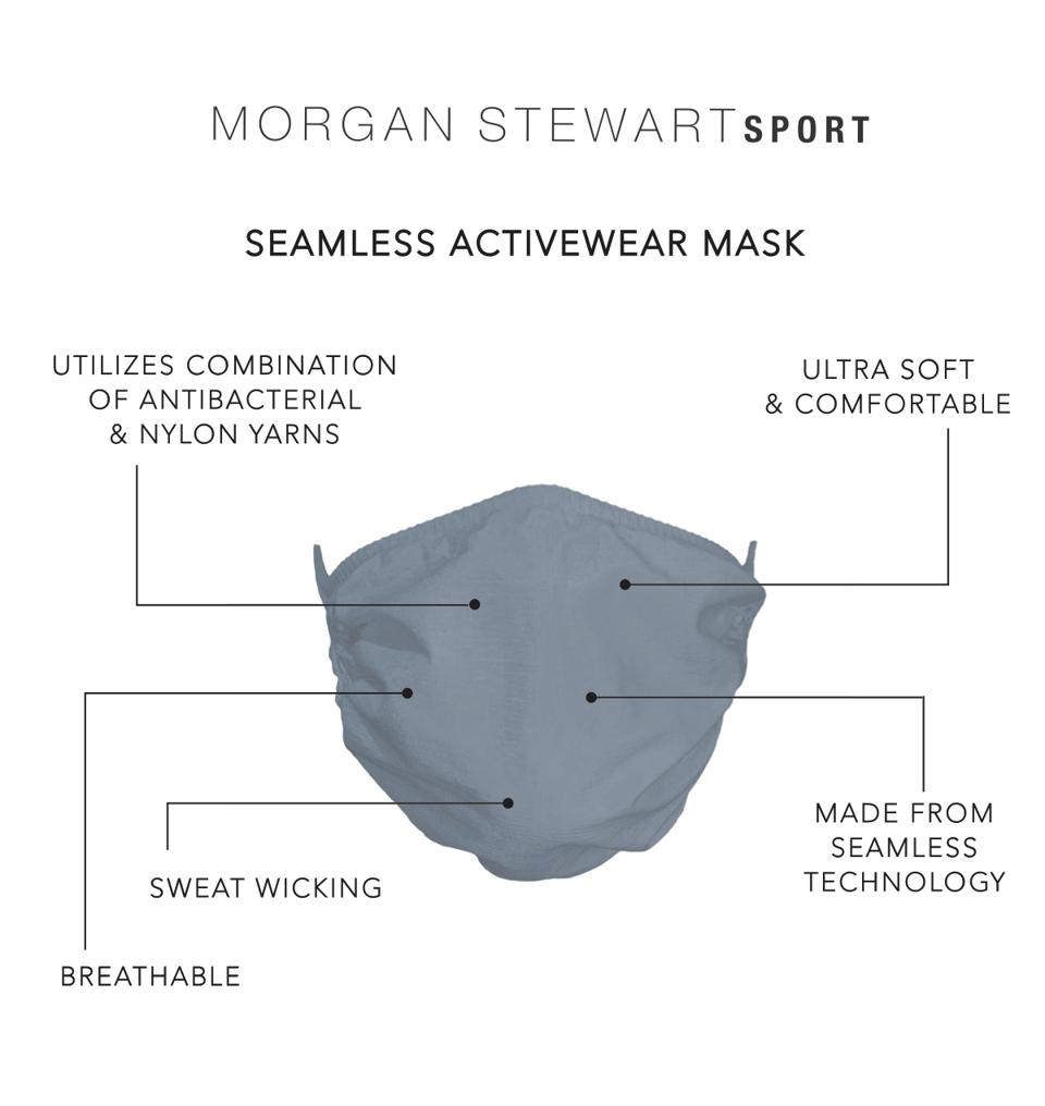 Morgan Stewart Sport seamless activewear mask.