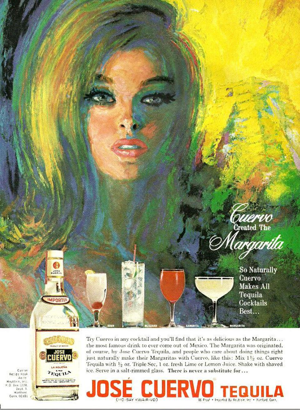Cuervo margarita poster from the 1960s