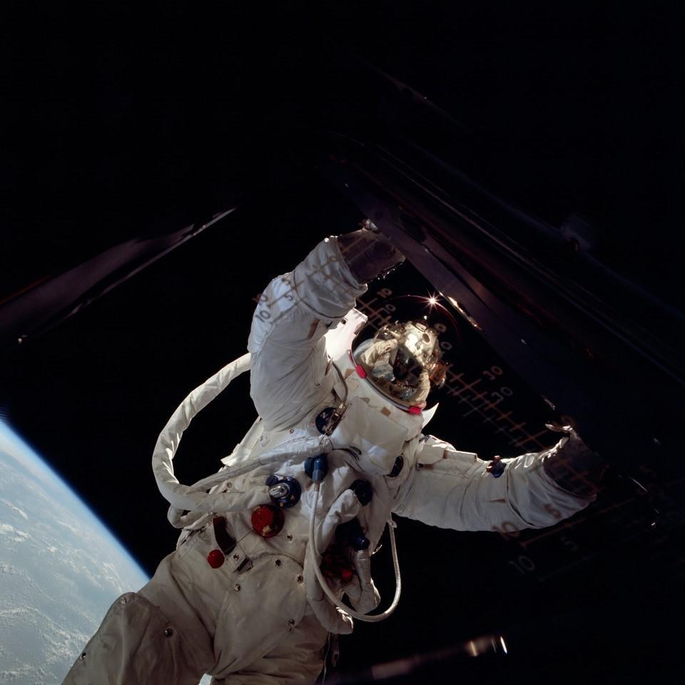 """Russell """"Rusty"""" Schweickart - Photo credit NASA"""