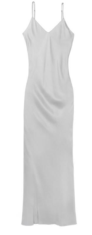 Katla's María Slip Dress in Grey