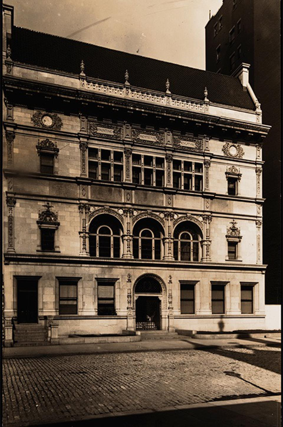 One of the earliest surviving images of the Art Students League of New York, built 1892.
