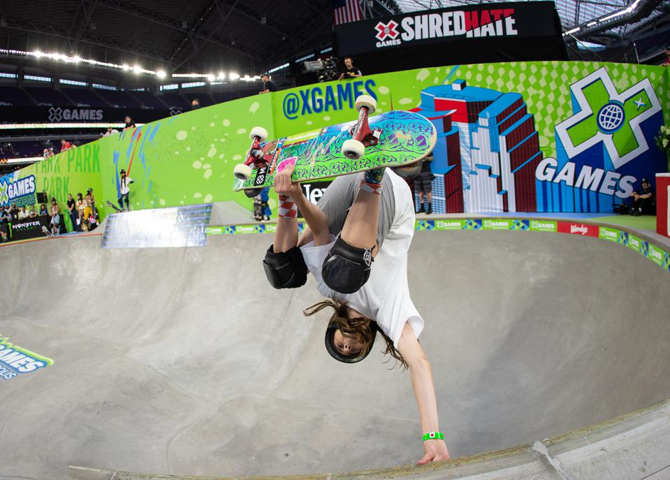 Minna Stess at the August 2019 Skate Park X Games.
