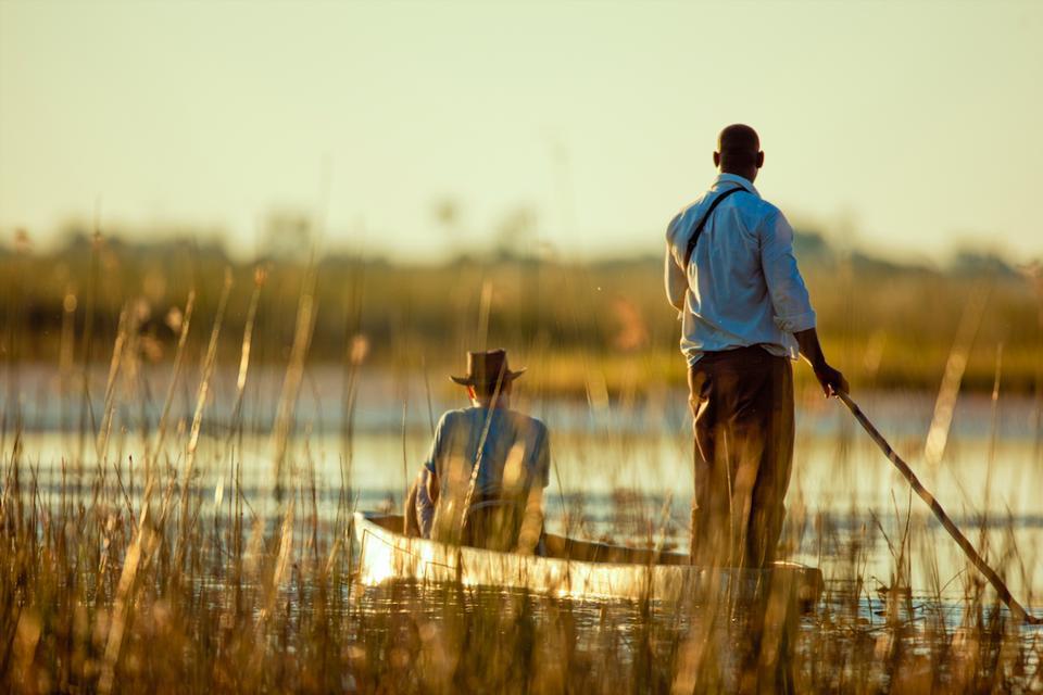 Mokoro safaris in the Okavango Delta, Botswana.